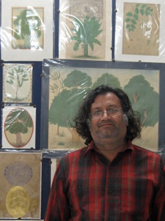 Raju Swami Profile with Painting background